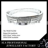 2015 new desing 925 silver jewelry bracelet white gold with zircon fashion bracelet slave jewelry brighton jewelry wholesale