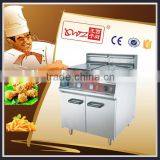 2015 New Type hot sale commercial Stainless Steel Single Tank Lpg Gas Deep Fryer