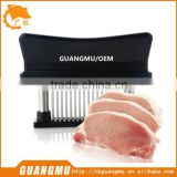 manual meat tenderizer stainless steel blades meat tenderizer steak tenderizer with safety lock plastic