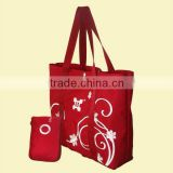 cangnan foldable bag, bag with small pouch, pouch bag