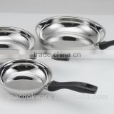 [BSCI Member] 3pcs set stainless steel cooking frying pans with bakelite handle Rena ware