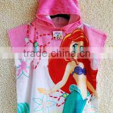 100% cotton beach hooded towel ponchos pattern for baby