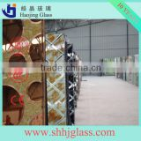 Shahe supply OEM decorative glass plate figured printing pattern balcony ornamental glass