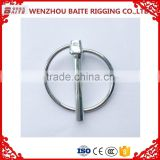 ISO 9001-2008 OEM high precision Nickel Plated Safety linch pin lynch pin wire lock pin China Rigging Hardware Manufacture                                                                         Quality Choice
