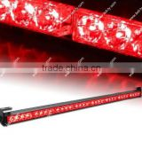 "35.5"" 7 Modes Traffic Advisor / Advising Emergency Warning Vehicle Strobe Top Roof Light Bar Kit-Red"
