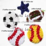 Shabby rosette trim basketball , football/rugby, soccer ball, volleyball, softball flower accessories