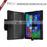 Hot selling customized LOGO Selling Flip Leather Tablet Case for microsoft surface pro 4 keyboard