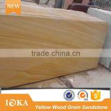 Hot Sale Yellow Wooden Sandstone for Interior and Exterior Wall Slabs & Tiles                                                                         Quality Choice