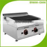 BN600-G606 Professional Lava Rock Gas Barbeque Grill/Indoor Gas BBQ Grill/Industrial Grill