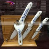 Classical ceramic knife sets with bamboo board