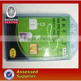 Transparent waterproof soft ID card holder