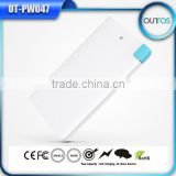 Credit Card sized Ultra Slim Portable Mobile Battery Charger Power Bank 2500mah