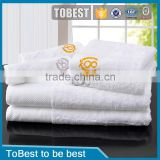 ToBest Hotel supplies Wholesale White Egyption cotton hotel towels / bath towel