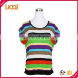Hot sale summer casual stripe fashion design lady blouse sexy women blouse                                                                         Quality Choice