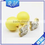 Sample Free Shiny Rhinestone Ear Ring Popular Body Piercing Jewelry