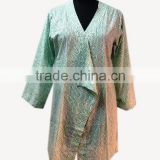 Designer Cotton Girls Sexy Top Hand Block Printed Stylish Women Kaftan Dress Summer Wear Beach Wear Summer Tunic Shrug Style Top