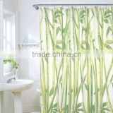 Hot Sale Green Bamboo Natural Landscape Design Bathroom Shower Curtain Fabric 12 Hooks56683 Bamboo Natural Landscape HYUK