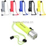 Underwater LED diving led torch 18650 Torch Lamp Light, powerful diving torch
