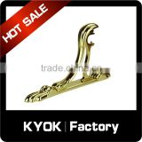 KYOK golden black decor adjustable curtain rod accessories,16/19/22mm metal side curtain bracket,best price curtain rod bracket