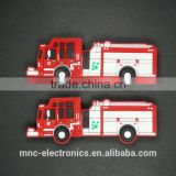 Personalized pvc material 4GB, 8GB, 16GB fire fighting truck shaped usb flash memory stick pen drive                                                                                                         Supplier's Choice