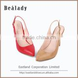 Factory customized fashion classic glitter leather upper high heel 10cm women height increasing dress shoes