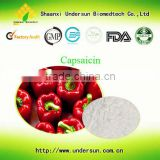 Supply high purity Capsaicin 98% By factory cas: 404-86-4/red Hot Chili Peppers extract/Red Pepper Extract Powder