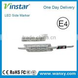 Smoke Clear led side marker light with M logo for BMW E46 5D 02-05 LCI Facelift                                                                         Quality Choice