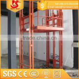 500-5000kg loading capacity guide rail chain electrical ladder goods platform lift