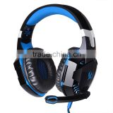 Top quality professional gaming headset usb computer headphone with mic and deep bass earphone