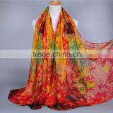Fashionable New Arrival Abstract Oil Painting Pattern Printe 100% Viscose 180*90 scarf scarves shawls