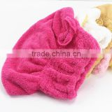 High Quality Spun-Microfiber Hair Drying Towel Hat Wholesale Hair Removal Towel                                                                         Quality Choice
