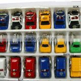 HOT Sale Alloy Diecast Car Key Chain Pull Back Car Mini Metal Cars Train School bus Toys