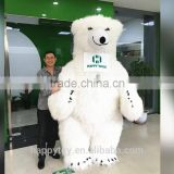 HI CE High quality polar bear inflatable mascot costume for adults