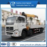 DongFeng 8X4 crane truck with 16t/18t/20t XCMG crane, telescopic boom truck mounted crane on sale