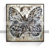 Modern abstract butterfly oil painting with thick textured SHU57