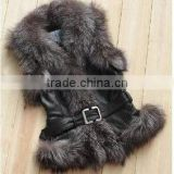 showme fur black fox fur vest