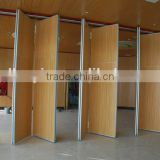 wooden soundproofing material movable sound proof partition wall with fabric