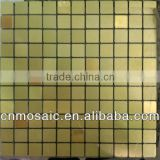 cheap and fashionable golden yellow square aluminium composite peel and stick tile for wall decoration