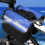 Cycling Bicycle Bike Top Frame Saddle Bag Double Pannier Tube Pouch Phone Holder/bicycle bag