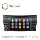 Ownice car multimedia player for Benz E-Class W211 2002 with mp3 player gps audio rds bluetooth multimedia car radio DAB