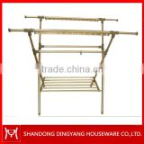 X type aluminum laundry drying rack outdoor clothes dryer rack