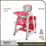 Multi-Function 3 in 1 Plastic Baby High Feeding Chair baby high chair with cover