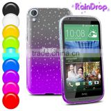 Buy direct from china Gradient TPU Back Cover Skin for HTC Desire 820 raindrop case with color changing factory price