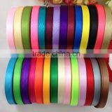 Wholesale Single Face 100% polyester Satin Ribbon For Wedding Decoration Gift Packing DIY Crafts colorful tape 25yards/roll