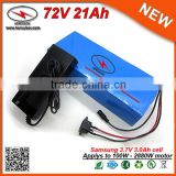 Big Capacity 72V 20Ah 21Ah Lithium Battery 72V Electric Bicycle Battery in Battery Packs