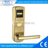 China factory hotel door handle lock manufacturer hotel door handle lock, hotel key card system, electronic key door lock