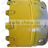 casing shoe with replace block teeth for drill casing oscillators