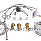 bathtub faucet,waterfall,handheld shower head,cystal switch,flexible hose pipe for SPA kit whole set