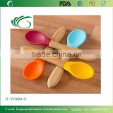 XYB004/Silicone Spoons,Baby Infant Feeding Spoon,4 Colour Set,Soft Curved Tip,Toddler Safe,Perfect Babyshower Gift