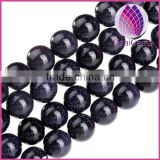 High quality blue goldstone round loose beads 2-14mm